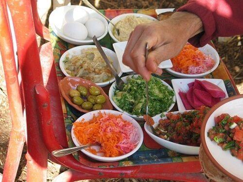 ארוחה טורקית טבעונית